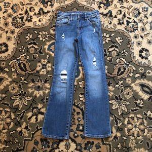 GAP Kids Medium Wash Ripped Boot Cut Jeans 8 Slim